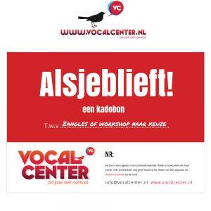 VocalCenter Cadeaubon